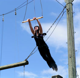 Young People from Banbury brave the high ropes on a trip organised by Banbury Young Peoples Centre