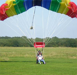 Young people experience a tandem parachute leap from two and half miles up in the sky as part of an inspirational summer programme organised by several youth groups in Banbury